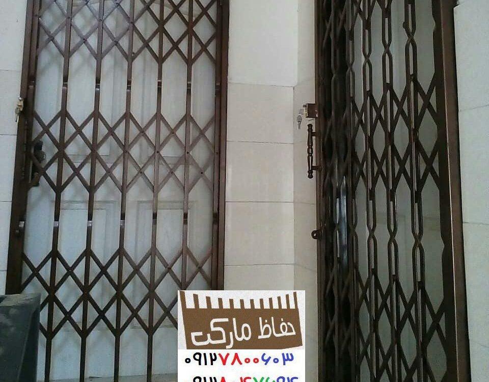 درب کشویی تاشو داخل ساختمان