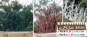 نمونه نرده دیوار باغ