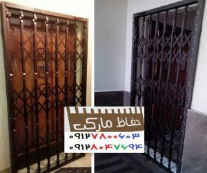 محافظ پشت در آپارتمان